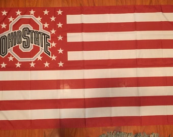 Ohio State Buckeyes 3 X 5 Feet Flag Banner NCAA College University Fan