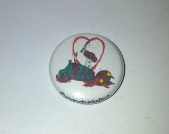 "1"" button or magnet. Love"