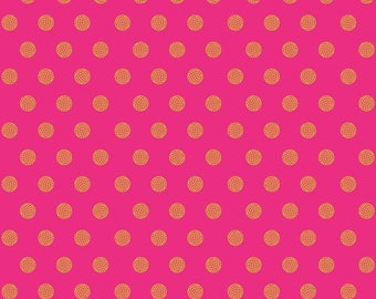 Sun Print 2016 by Alison Glass for Andover Fabrics - Sphere - Ruby - A-8138-E - FQ - Fat Quarter Cotton Quilt Fabric 417