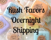 OVERNIGHT SHIPPING: RUSH Party Favors, Baby Shower Favors, Bridal Shower Favors, Wedding Favors