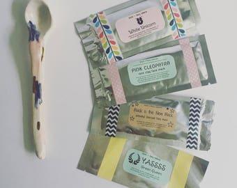 Natural Face Mask Set: 4 natural face masks