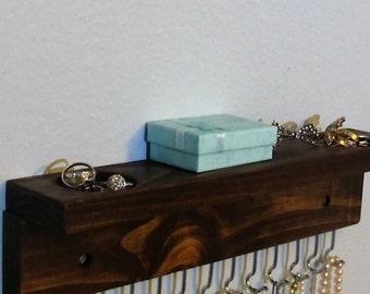 Jewelry Holder - Jewelry Organizer - Necklaces Storage -Necklace Holder - Jewelry Storage -  Rustic Shelf