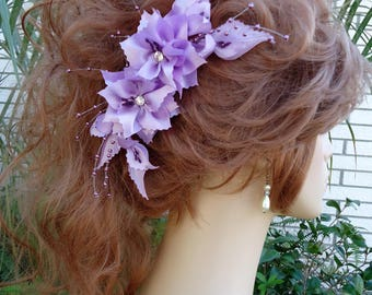 Bridal Hair Comb, Lavender Hair Comb, Wedding Hair Comb, Any Color, REX17381
