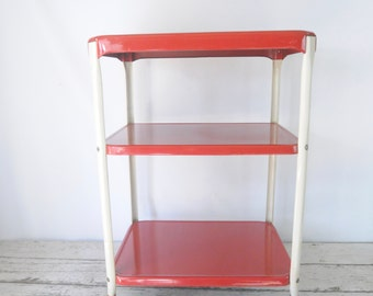 Vintage Cosco Kitchen Cart Rolling Kitchen Cart Red And White Cosco Cart