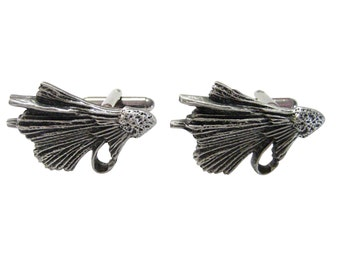 Textured Fishing Fly Cufflinks