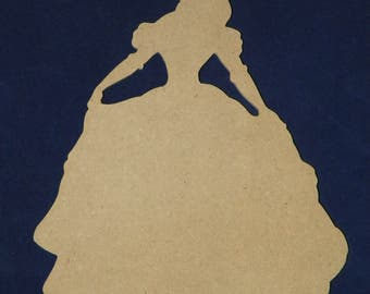 Unfinished Belle of Beauty and the Beast Cutout