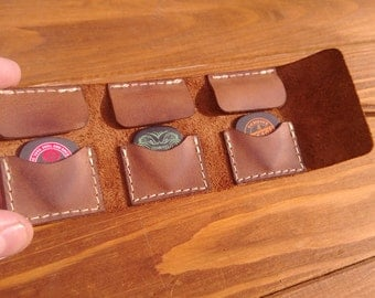 Personalized leather guitar pick wallet , guitar pick holder,leather guitar pick case ,pouch,plectrum,pick,strings