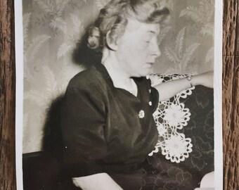 Original Vintage Photograph Aunt Millie Dozing