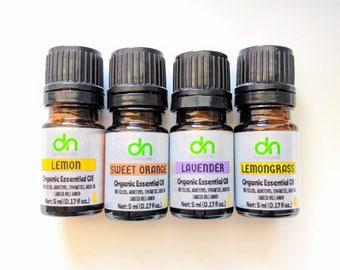 Organic Lemongrass Oil - Lemongrass Oil - Organic Lemongrass Essential Oil - 5 ml - Lemongrass Essential Oil - Lemongrass - Organic