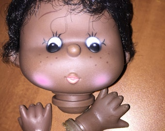 Vintage Rare Black Doll Head and Hands Dollmaking Supplies NOS H1