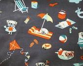 Phone pouch - pugs print fabric