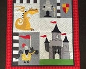 Sample Sale - a Knights Tale quilt. Quilt size approx 1m x 1.2m
