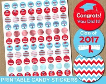 High School Graduation Party Favors - Graduation Candy Stickers - Class of 2017 Graduation Party Favors - College Graduation Party Ideas G3