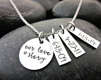 Mother's Necklace - Our Love Story - Personalized - Mother's Day
