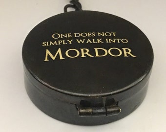 One Does Not Simply Walk Into Mordor Working Compass, One Does Not Simply Walk Into Mordor, Working Compass, Engraveable Key Chain