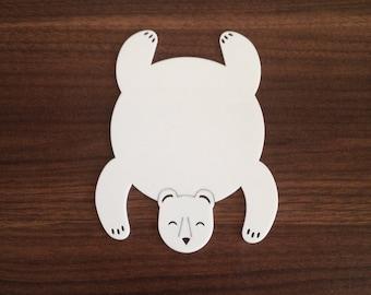 Bear rug coaster