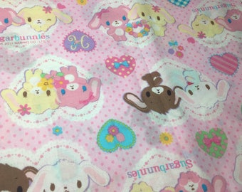 Sanrio Fabric Sugarbunnies Kawaii direct from Japan
