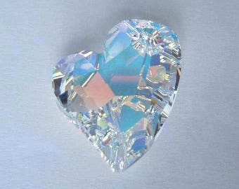 1 SWAROVSKI 6261 Devoted Heart Pendant 27mm CRYSTAL AB