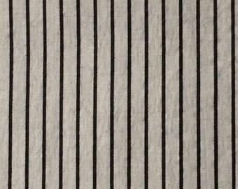 Cotton Fabric / Vintage Gray and Black Stripe Cotton Fabric / Striped Cotton Fabric / Gray Striped Fabric / Black Striped Fabric / BTY