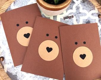 Sympathy Card 3-pack - Brown Bear Hugs