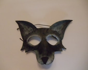 Gray Fox/Wolf/Coyote Leather Mask