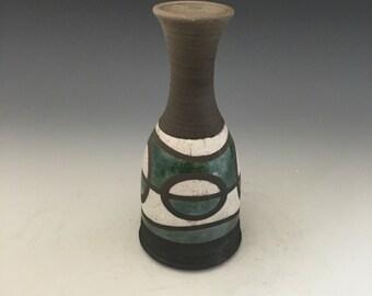 Mini Raku Vase - Skew'd Perspective - Handmade Pottery - Home Decor