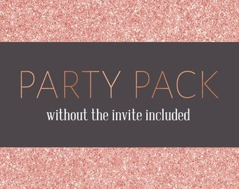 Party Package without the invite - Printable Party Package - Pdf Party Printable