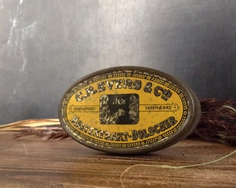 Vintage Small tin candy box.