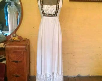 Gunne Sax Goddess Maxi Sundress Peasant Romantic Boho Queen XS