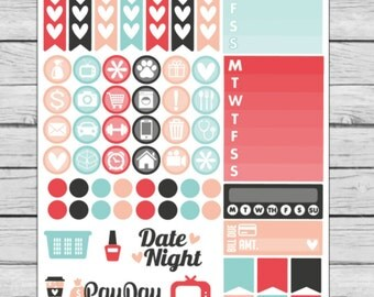 Snow Birds Functional Planner Stickers