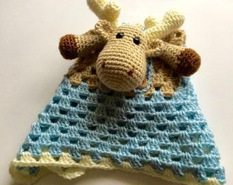 Boy Moose Security Blanket // Made To Order
