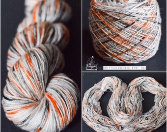 "Dyed to Order Speckled Yarn - Choose your base - ""Penguins"" Colorway - Hand Dyed Yarn"