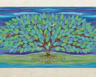 Bat Mitzvah or Bar Mitzvah Sign In Board Alternative - Tree of Life - Extra Large