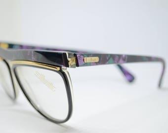 Vintage Silhouette Purple & Teal W/ Demo lenses