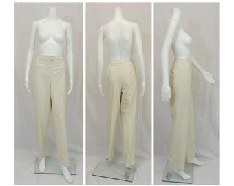 TALBOTS Winter White Lined Slacks Size 12