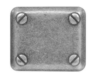 12 Mech 13/16 inch ( 18 mm ) Metal Buttons Antique Silver Color