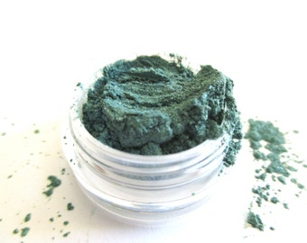 TROPICAL GREEN Mineral Eye Shadow: Natural Vegan Makeup Color, Small Size