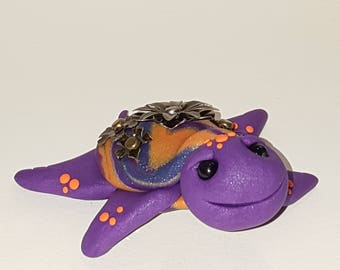 Polymer clay sea turtle