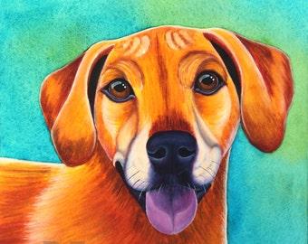 Custom Pet Portrait, Custom Dog Portrait, Watercolor Pet Portrait, Custom Dog Painting Custom Pet Painting Pet Memorial Art Pop Art Painting