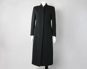 MANI by Giorgio Armani Deadstock Vintage 1980s Unworn Black Cashmere Wool Over Coat