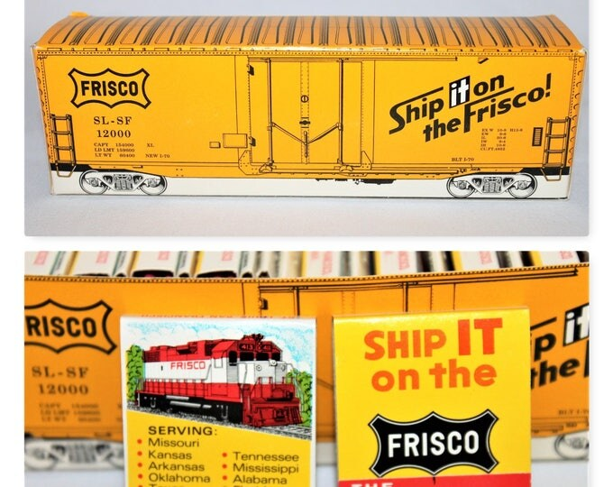 Vintage 1950s Frisco Train Lines Advertising Box of 25 Matchbooks