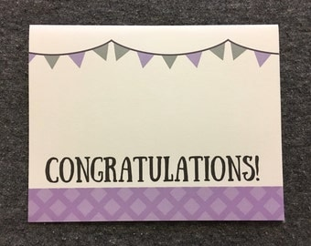 Congratulations: 4x6 Card