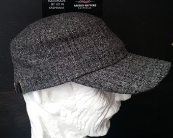 HARRIS TWEED CAP made from certified organic wool from Scotland, handmade in Australia - Perfect Gift