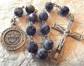U.S. Navy/St. Michael Blue Rosary Tenner