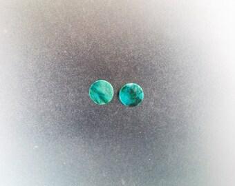 "Malachite Chrysocolla 5/16"", 0g Ear plugs one pair"