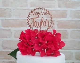 wedding cake topper, custom cake topper, personalised cake topper, wedding cake topper, Mr & mrs cake topper, name cake topper australia