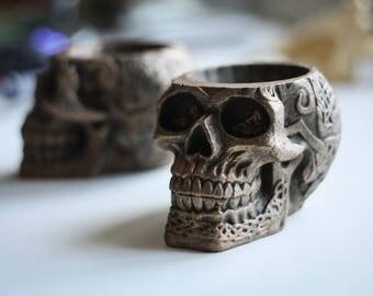 Celtic Skull Flowerpot | Skull Flower Pot | Plant Pot | Planteur  | Pot Planter | Planter Pot