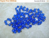 4 Feet Handmade Bead Chain - Royal Blue Bead Chain - Bead Chain Lot - 8mm
