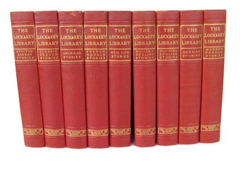 red book collection gold lettering matched set Lock and Key mysteries 9 volumes