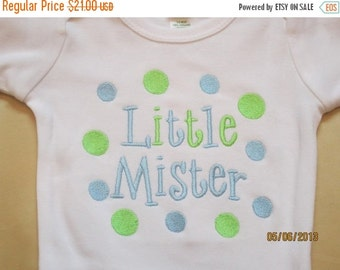20% OFF Entire Shop Little Mister Custom embroidered saying shirt or one piece w/snaps, Toddlers Girls, Boys